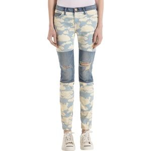 Current Elliott Seamed Ankle Skinny Denim Cloud